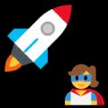 Piirretty raketti ja supernainen